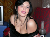 Olga - red caviar on the girl's body (153pics) Privat026 smoking hookah