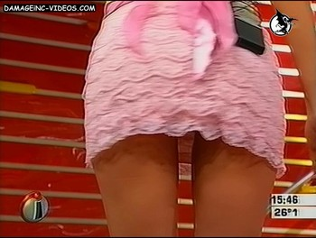 Celina Rucci upskirt fot the camera