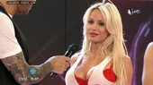 Argentina celebrity Luciana Salazar big breasts in red bra