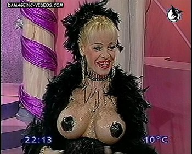Busty celebrity Silvia Suller half naked