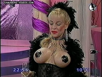 Busty showgirl Silvia Suller bare tits damageinc video