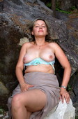 Plump blonde Anna in the forest Shows Tits (94pics) Privat025 Ripe in the woods