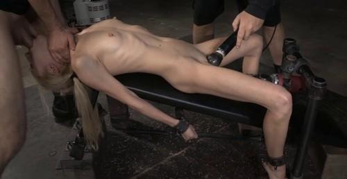 Handjob on massage table
